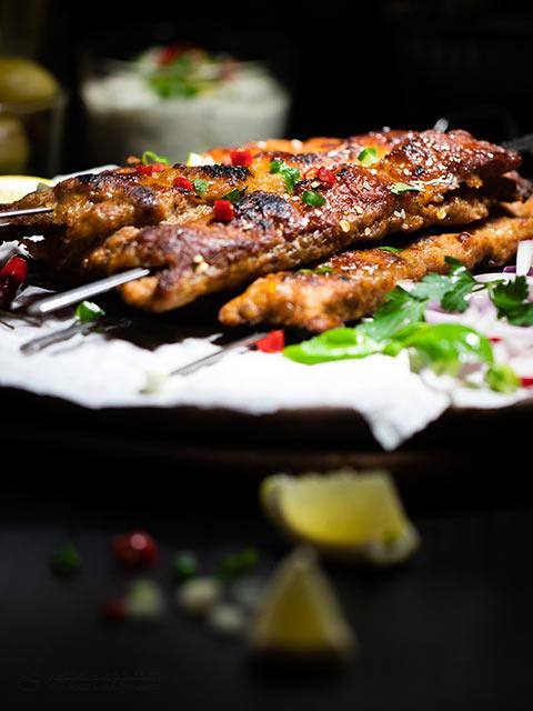 Low-Carb Chicken Seekh Kebabs