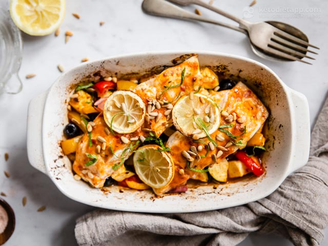 Low-Carb Moroccan Fish One Tray Bake