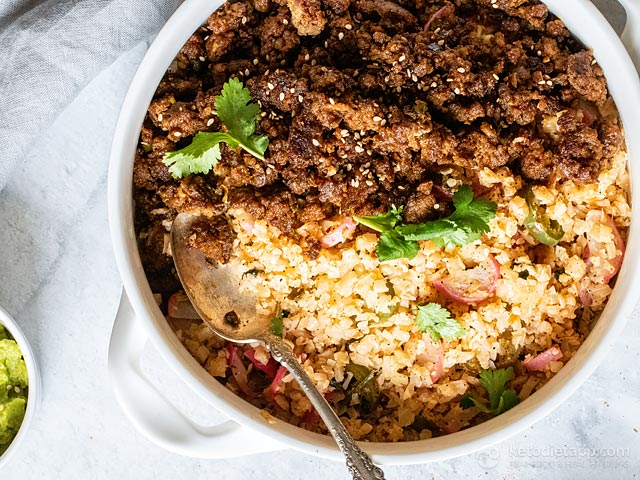 Quick Keto Taco Beef with Cauli-Rice