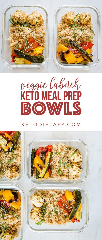 Veggie Labneh Keto Meal Prep Bowls