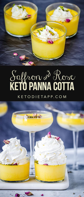 Keto Saffron & Rose Panna Cotta