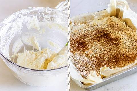 Low-Carb Tiramisu Brownie Slice