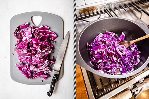 Super Simple Low-Carb Braised Red Cabbage