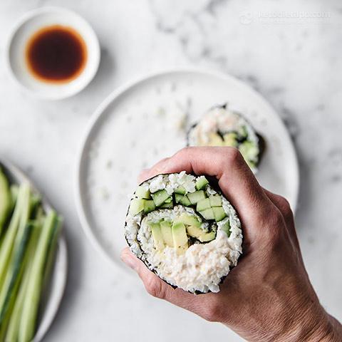 California Keto Sushi Burrito