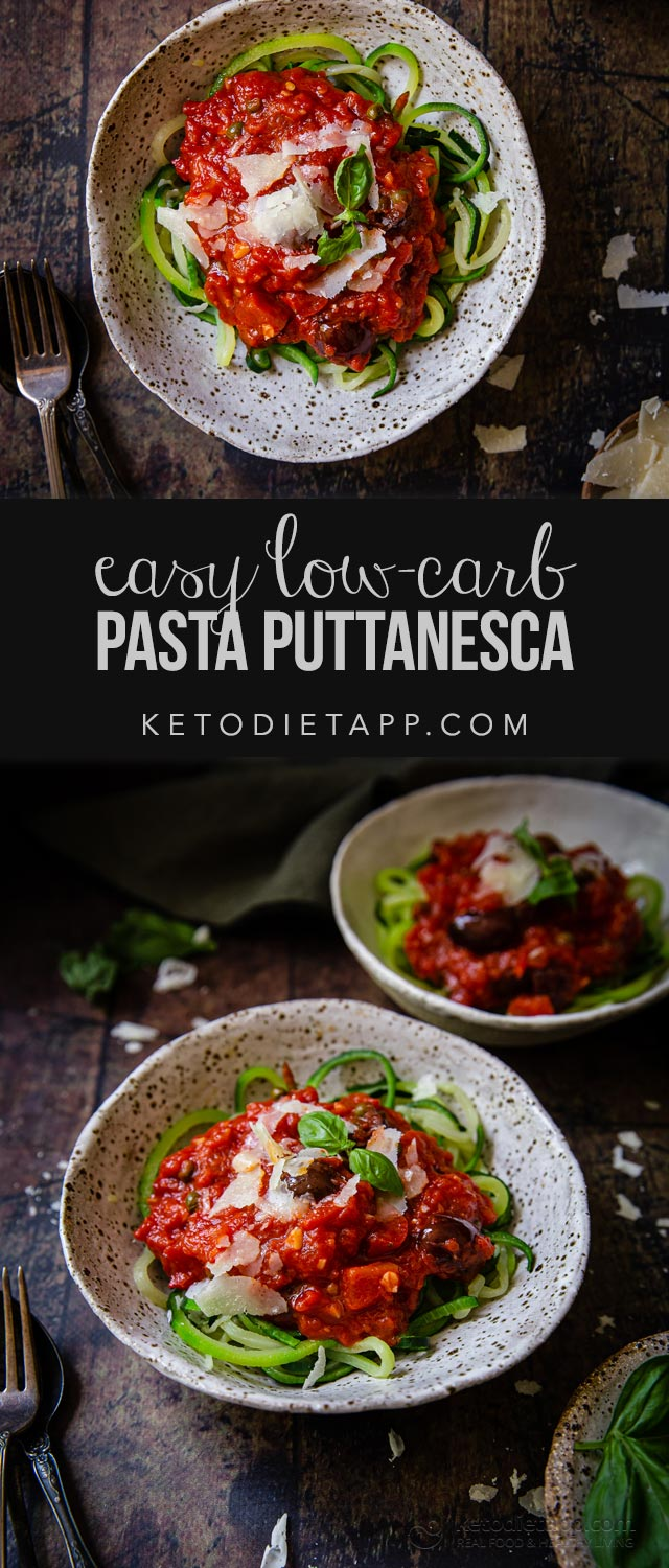 Easy Low-Carb Pasta Puttanesca