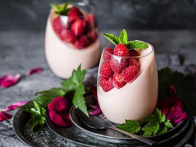 Romantic Raspberry Panna Cotta