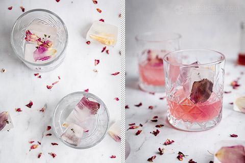 Low-Carb Pink Rose Cocktail