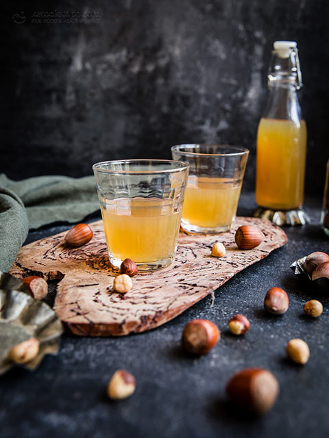 Homemade Low-Carb Frangelico Hazelnut Liqueur