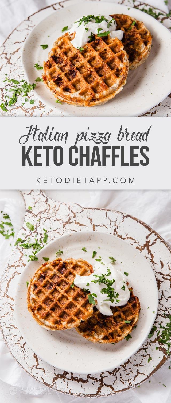 Keto Italian Bread Pizza Chaffles