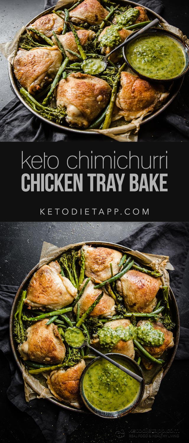 Low-Carb Chimichurri Chicken Tray Bake
