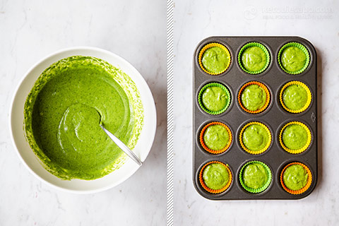 Low-Carb Green Cupcakes