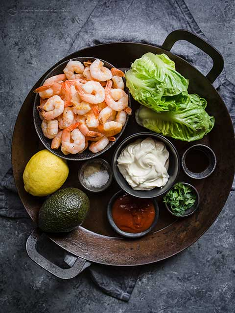 Easy Shrimp & Avocado Salad with Seafood Sauce
