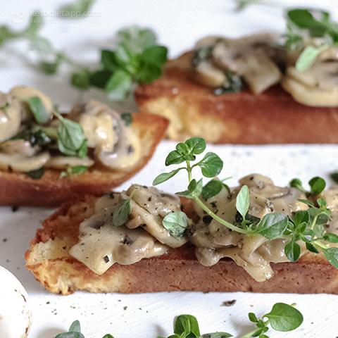 Mushroom & Thyme Keto Bruschetta