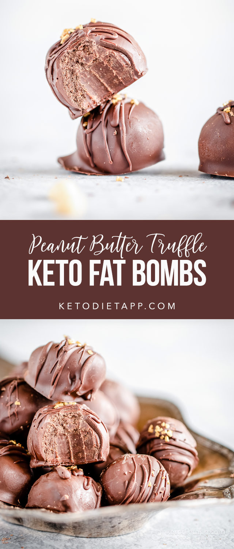 Keto Peanut Butter Truffle Fat Bombs