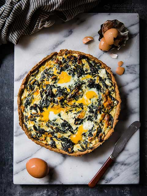 Low-Carb Savory Easter Torta Pasqualina Pie