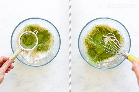 Low-Carb Dalgona Matcha Latte