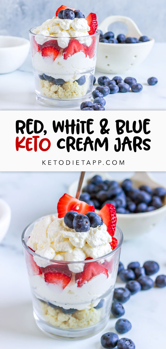 Red, White & Blue Berry Cream Jars