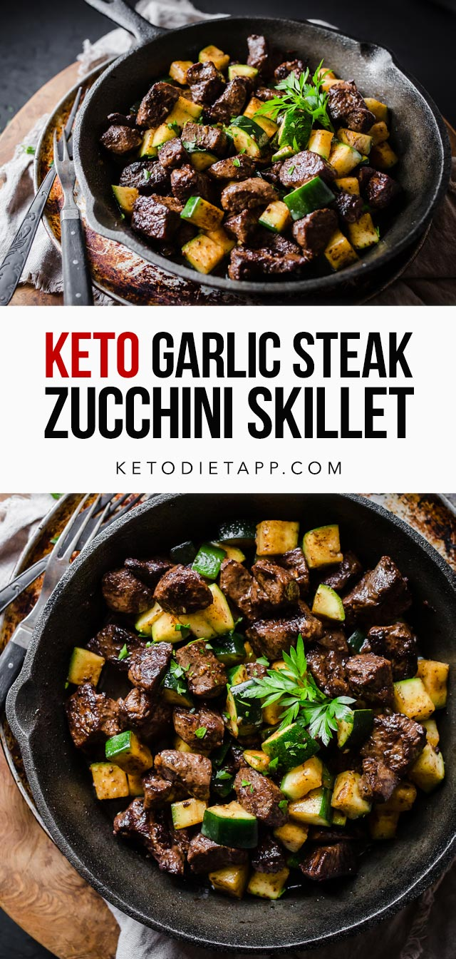 Easy Garlic Steak Zucchini Skillet