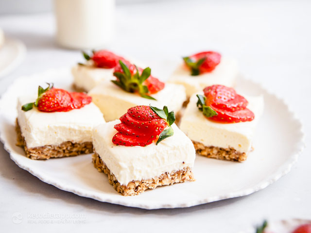 Easy Low-Carb Cheesecake Bars