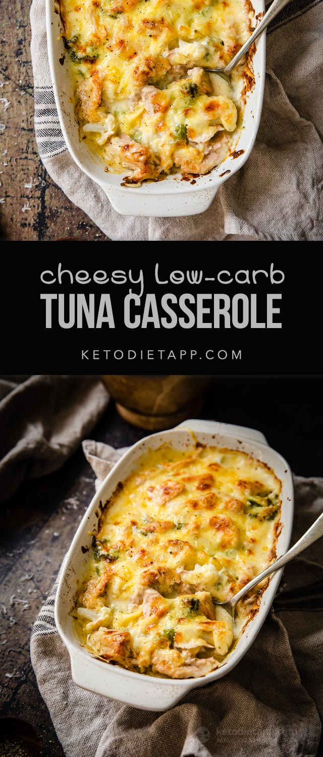 Cheesy Low-Carb Tuna Casserole