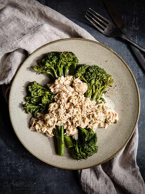 10 Minute Creamy Tuna with Broccoli