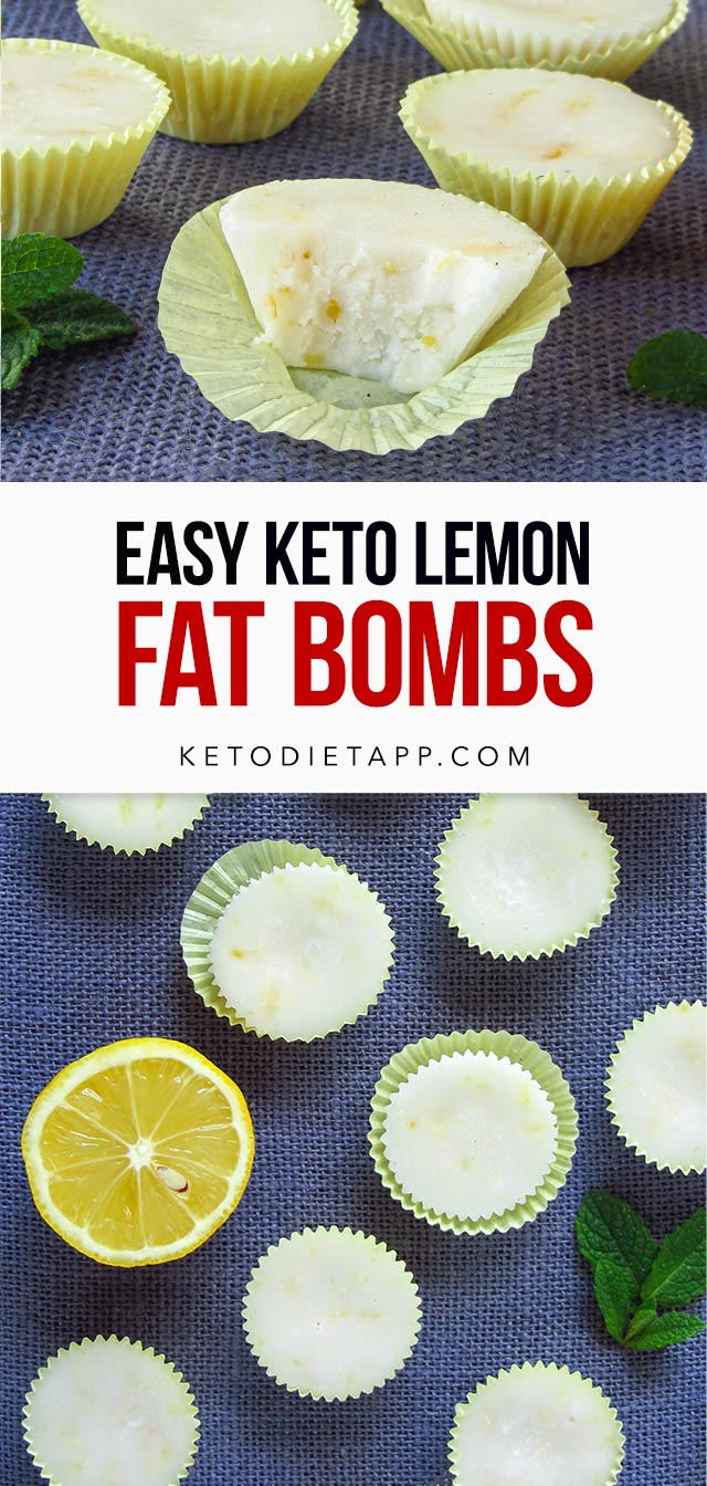 Easy Keto Lemon Fat Bombs