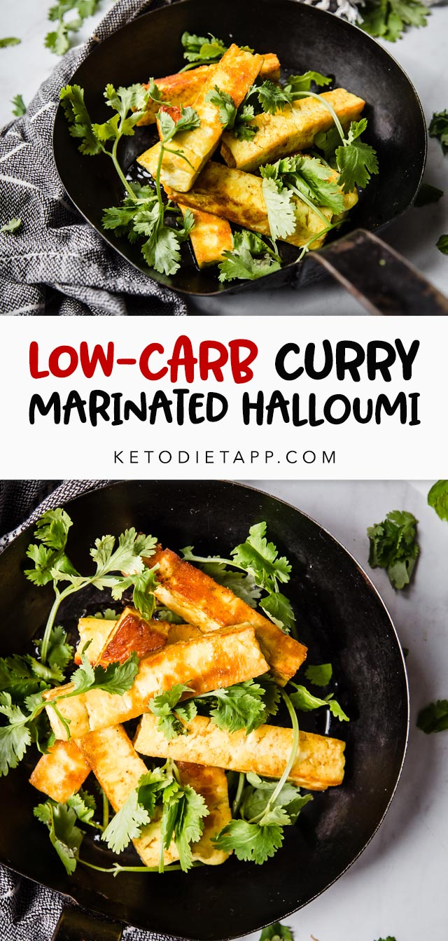 Low-Carb Curry Marinated Halloumi