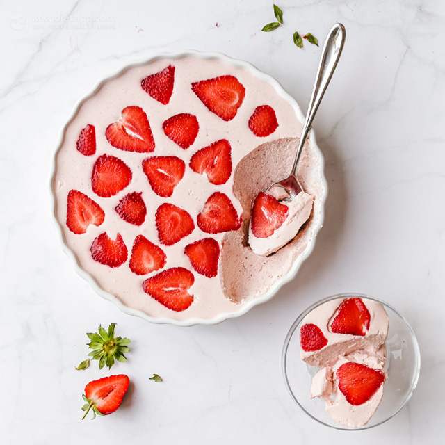 Fluffy Keto Strawberry Cream