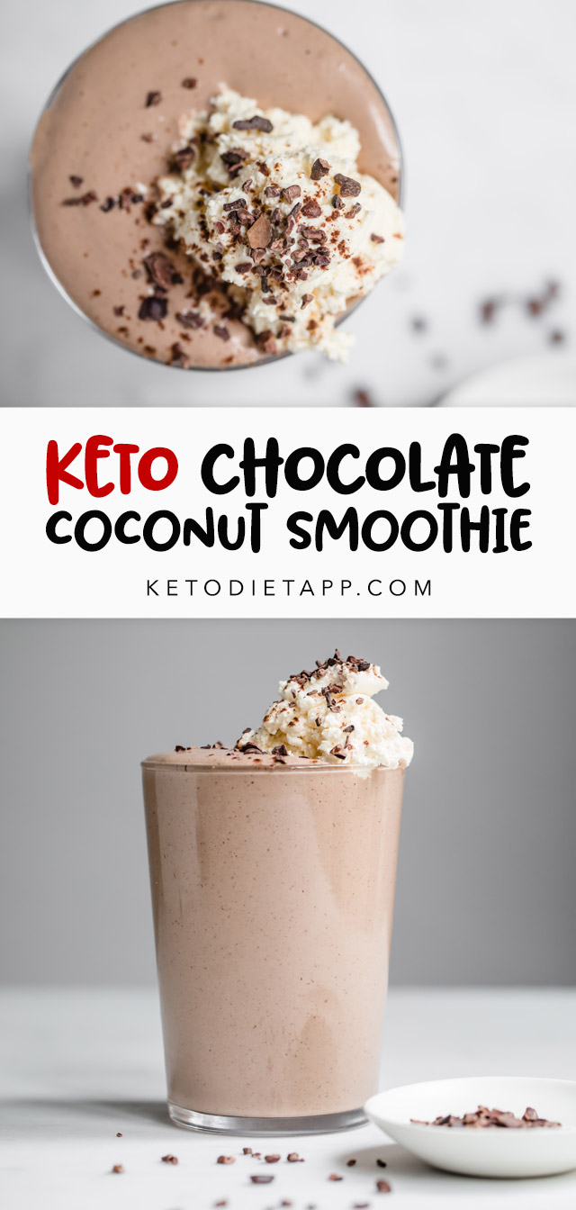 Low-Carb Chocolate Coconut Smoothie