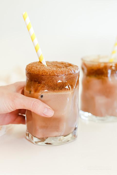 Low-Carb Mocha Dalgona Coffee