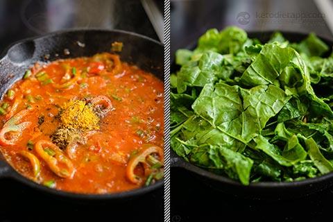 Low-Carb Spinach & Feta Shakshuka