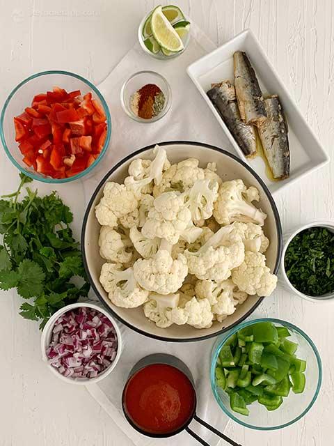 Low-Carb Spiced Cauli-Rice with Sardines