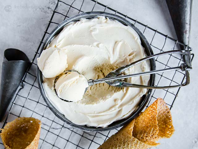 Soft & Creamy Keto Vanilla Ice Cream