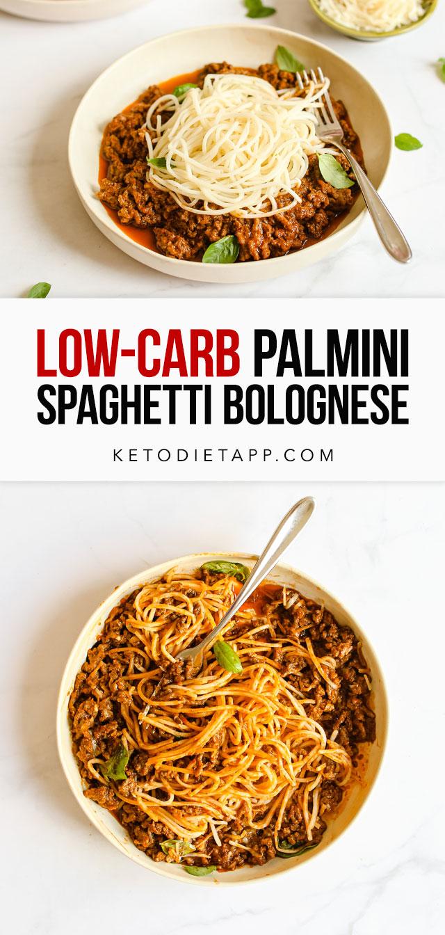 Keto Palmini Spaghetti Bolognese