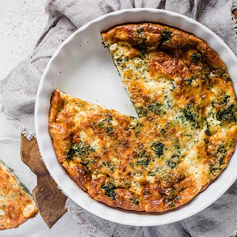 Keto Spinach & Feta Crustless Quiche