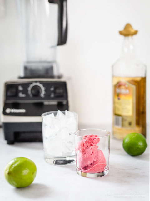 Frozen Low-Carb Raspberry Margarita