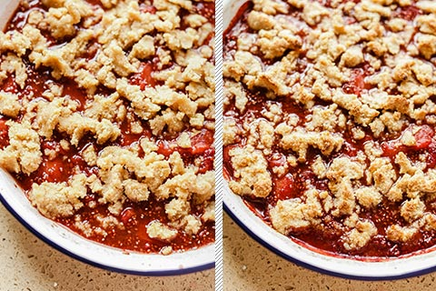 Low-Carb Strawberry Ginger Crumble