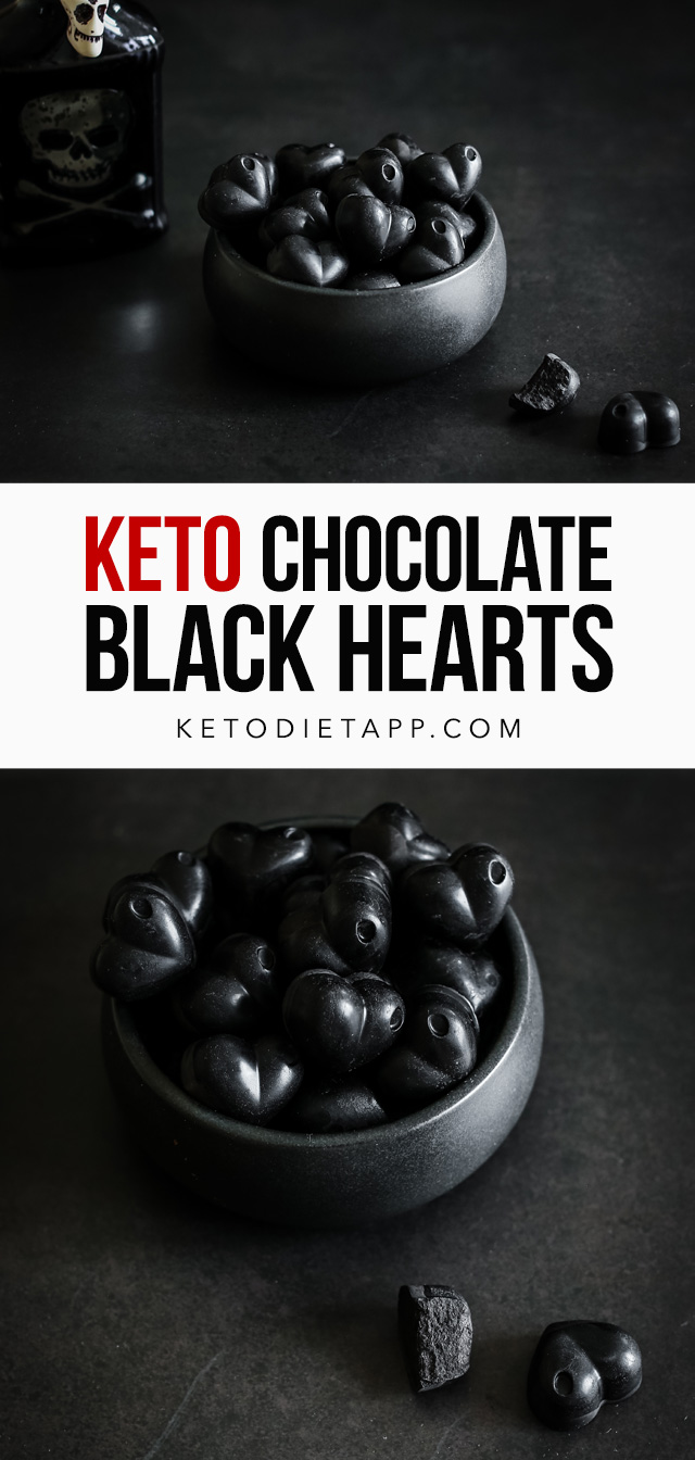Keto Black Chocolate Hearts