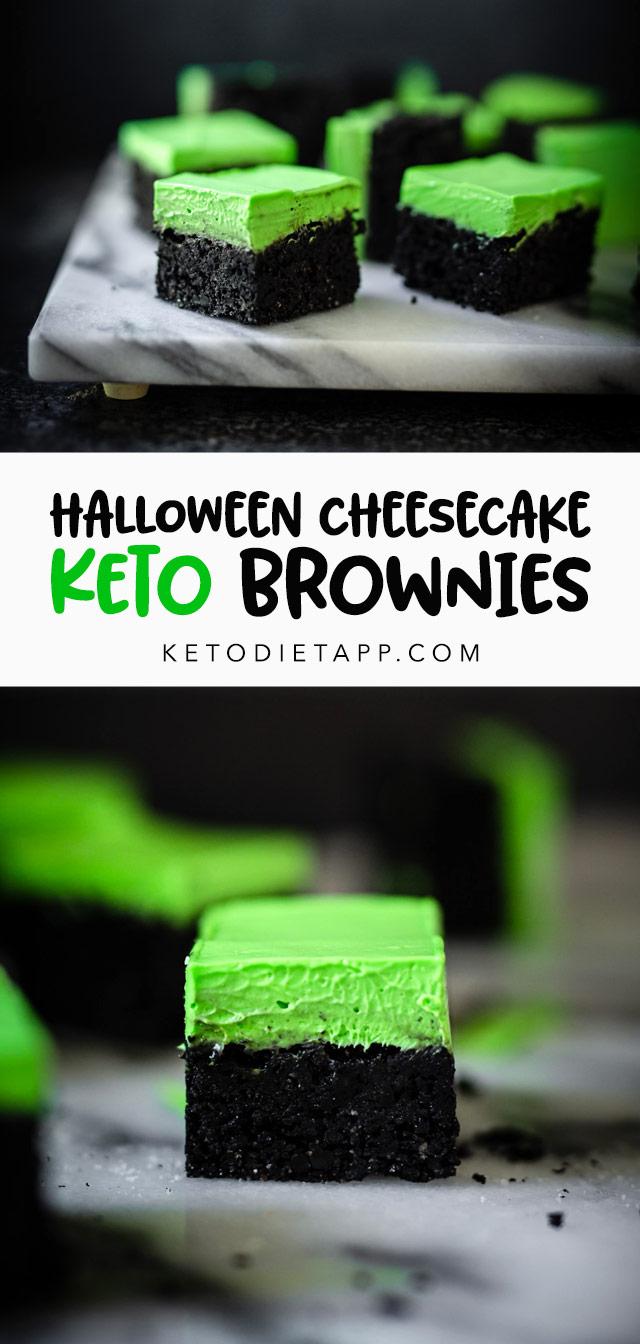 Halloween Cheesecake Keto Brownies