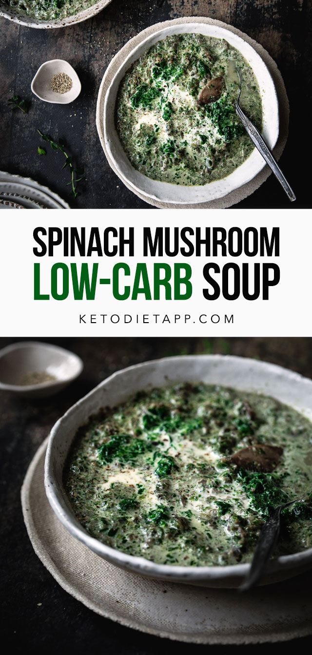 Low-Carb Spinach & Mushroom Soup