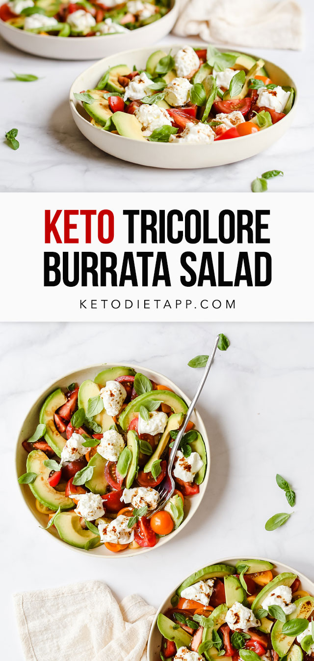 Low-Carb Tricolore Burrata Salad