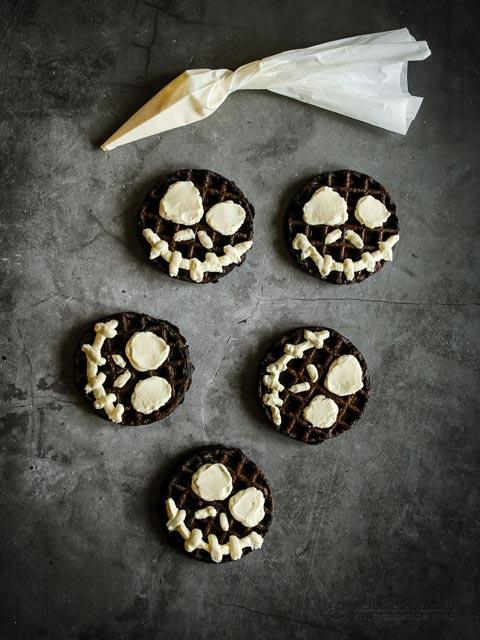 Spooky Keto Chocolate Chaffles