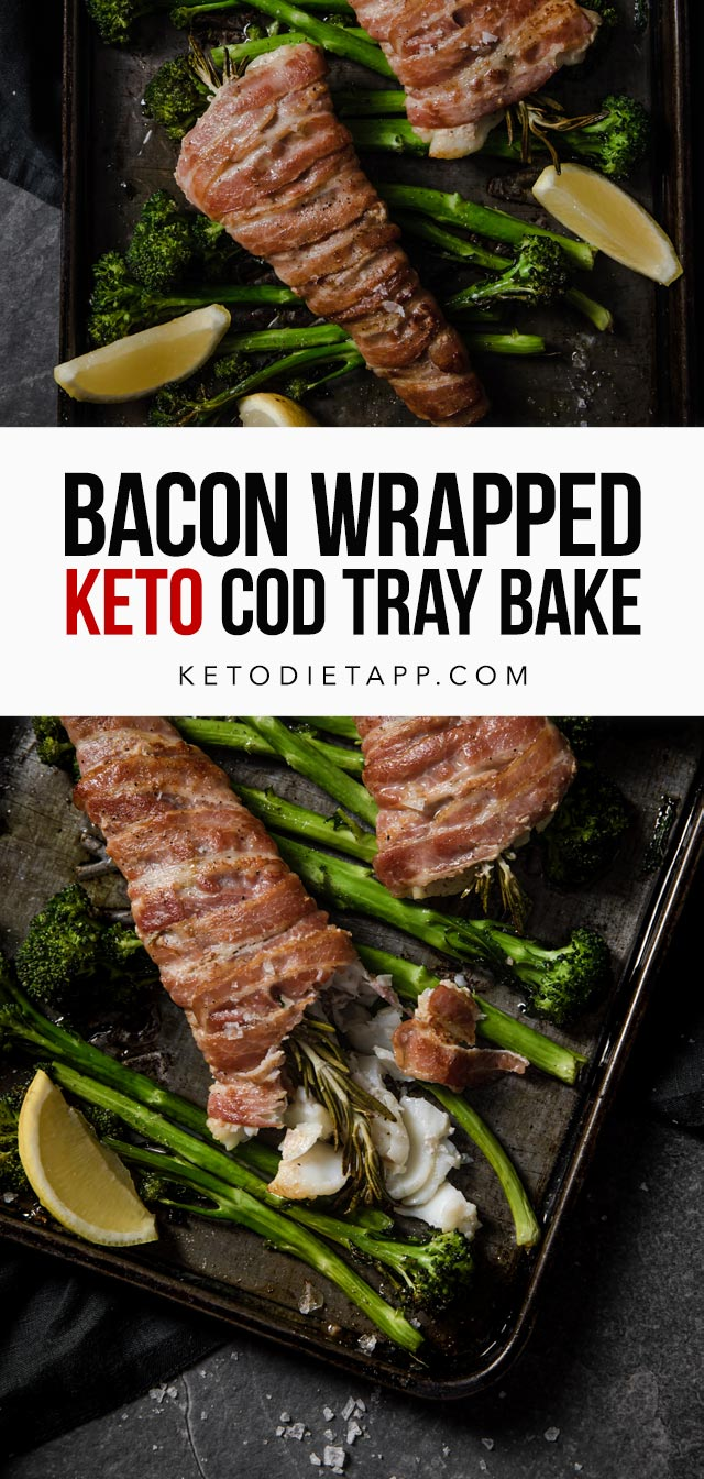 Low-Carb Bacon Wrapped Cod Tray Bake