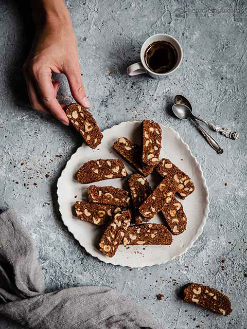 Keto Chocolate Hazelnut Biscotti