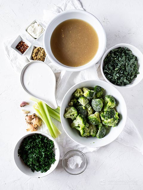 Green Immune Boosting Keto Soup