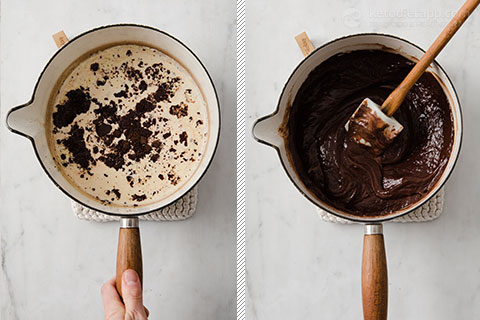 Boozy Chocolate Yule Log - Keto Buche De Noel