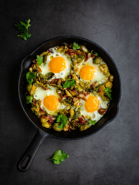 Bacon, Egg & Brussels Sprout Hash