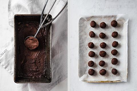 Keto Chocolate Ganache Gingerbread Truffles