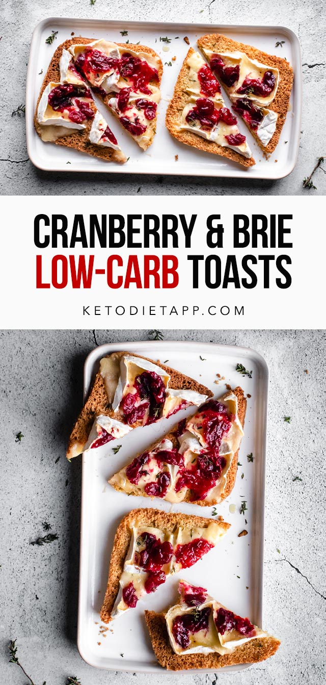 Low-Carb Cranberry Brie Toasts