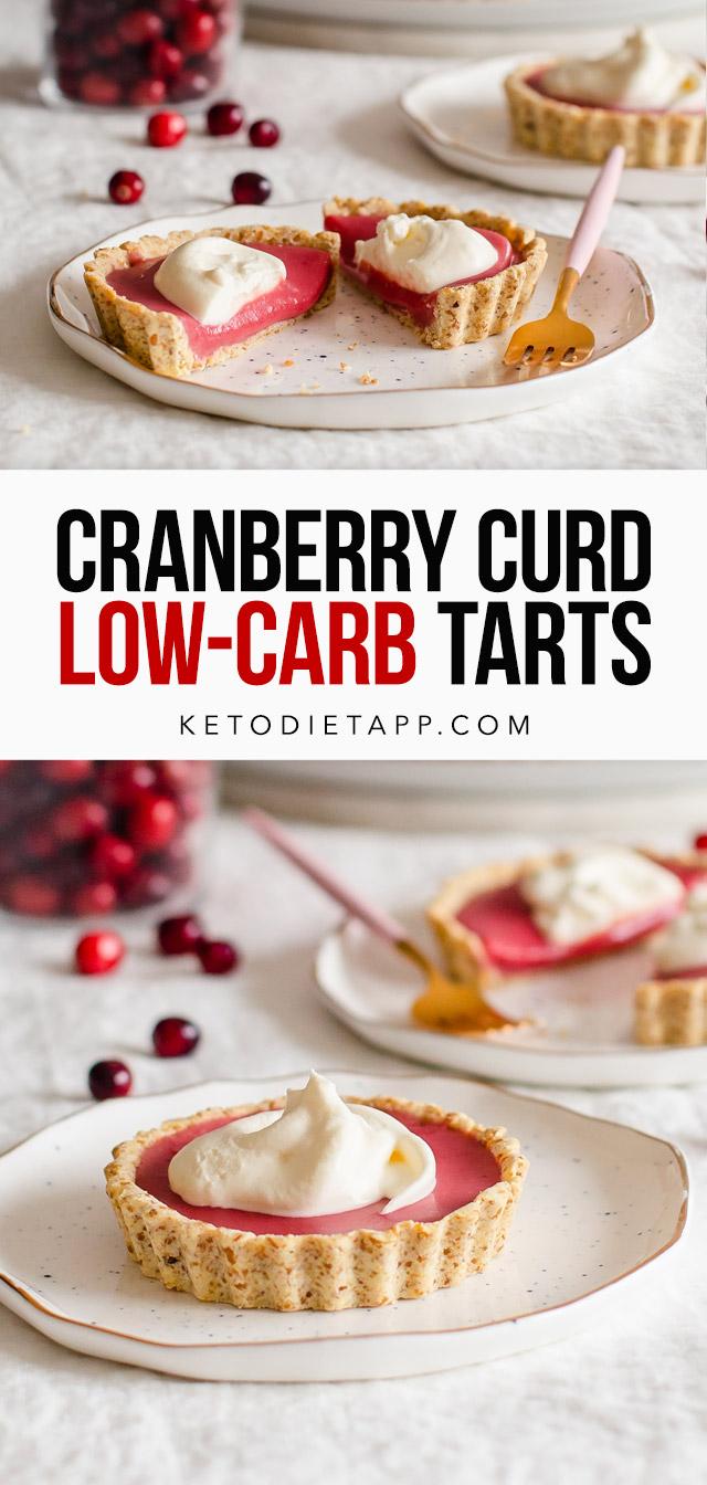 Low-Carb Cranberry Curd Tarts